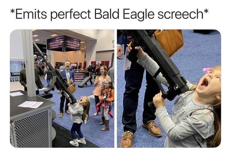 Meme - Human - *Emits perfect Bald Eagle screech* alerfro A