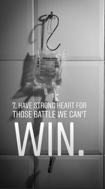 animal photography - Font - RINGER ACTAT 7. HAVE STRONG HEART FOR THOSE BATTLE WE CAN'T WIN.