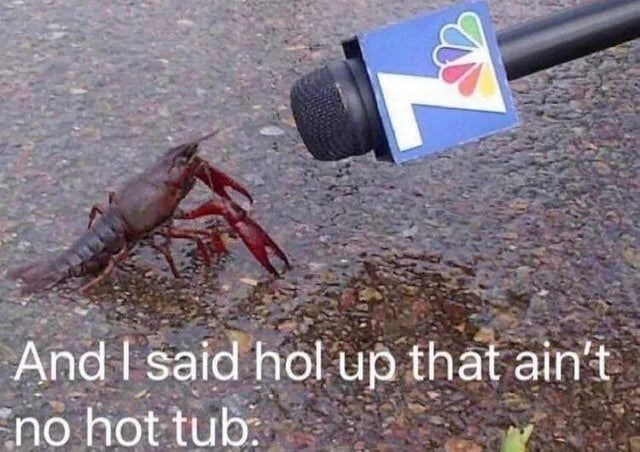blessed image - Crayfish - And I said hol up that ain't no hot tub: