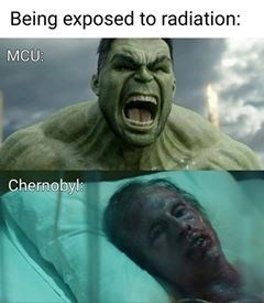 chernobyl meme - Fictional character - Being exposed to radiation: MCU: Chernobyl