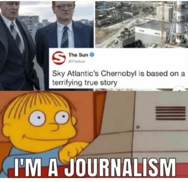 chernobyl meme - Cartoon - The Sun aTh Sun Sky Atlantic's Chernobyl is based on a terrifying true story I'M A JOURNALISM