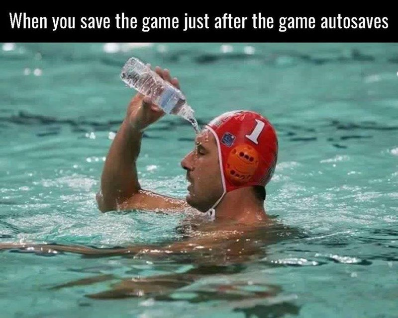 Sports - When you save the game just after the game autosaves