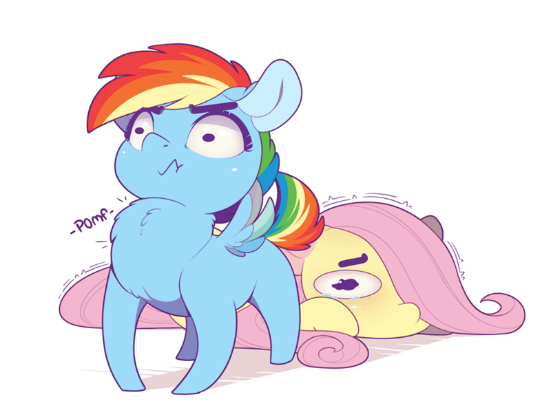 evehly fluttershy rainbow dash - 9321700608