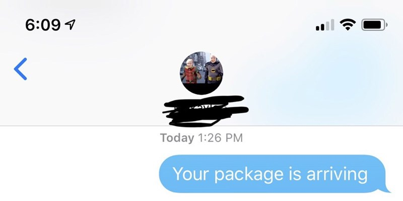 Text - Product - 6:09 Today 1:26 PM Your package is arriving
