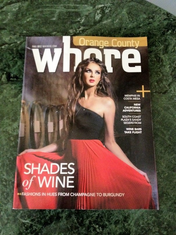 news headline - Magazine - whore Orange County R 012 OL.COM MEMPHIS IN COSTA MESA NEW CALIFORNIA ADVENTURES SOUTH COAST PLAZAS SANDY SEGERSTROM WINE BARS TAKE FLIGHT SHADES of WINE FASHIONS IN HUES FROM CHAMPAGNE TO BURGUNDY