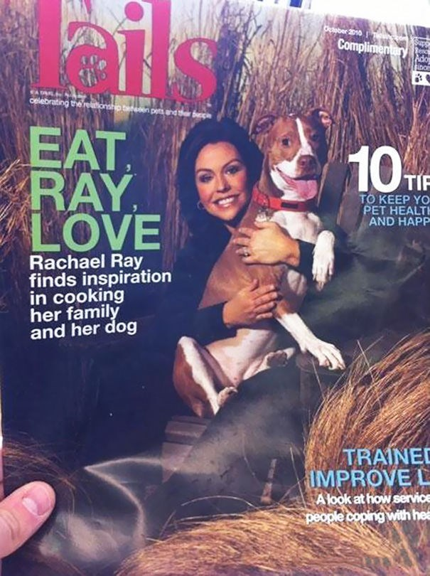 news headline - Magazine - ils Otober 2010 Complimentary Renc Ado sinor celebrating the re p n pes and EAT RAY LOVE 10 TIP TO KEEP YO PET HEALTH AND HAPP Rachael Ray finds inspiration in cooking her family and her dog TRAINED IMPROVE L A look at how service people coping with hea