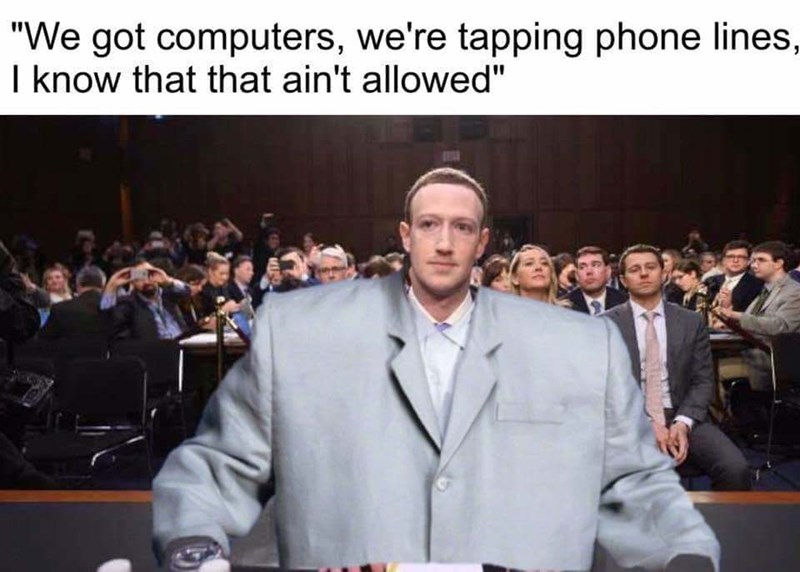"""sily shitpost - People - """"We got computers, we're tapping phone lines, I know that that ain't allowed"""""""