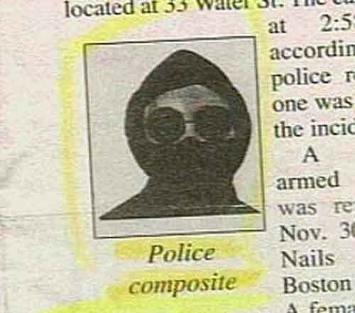 funny news - Text - located at 33 2:5 accordin at police r one was the incic A armed was re Nov. 3 Nails Boston Police composite A fema