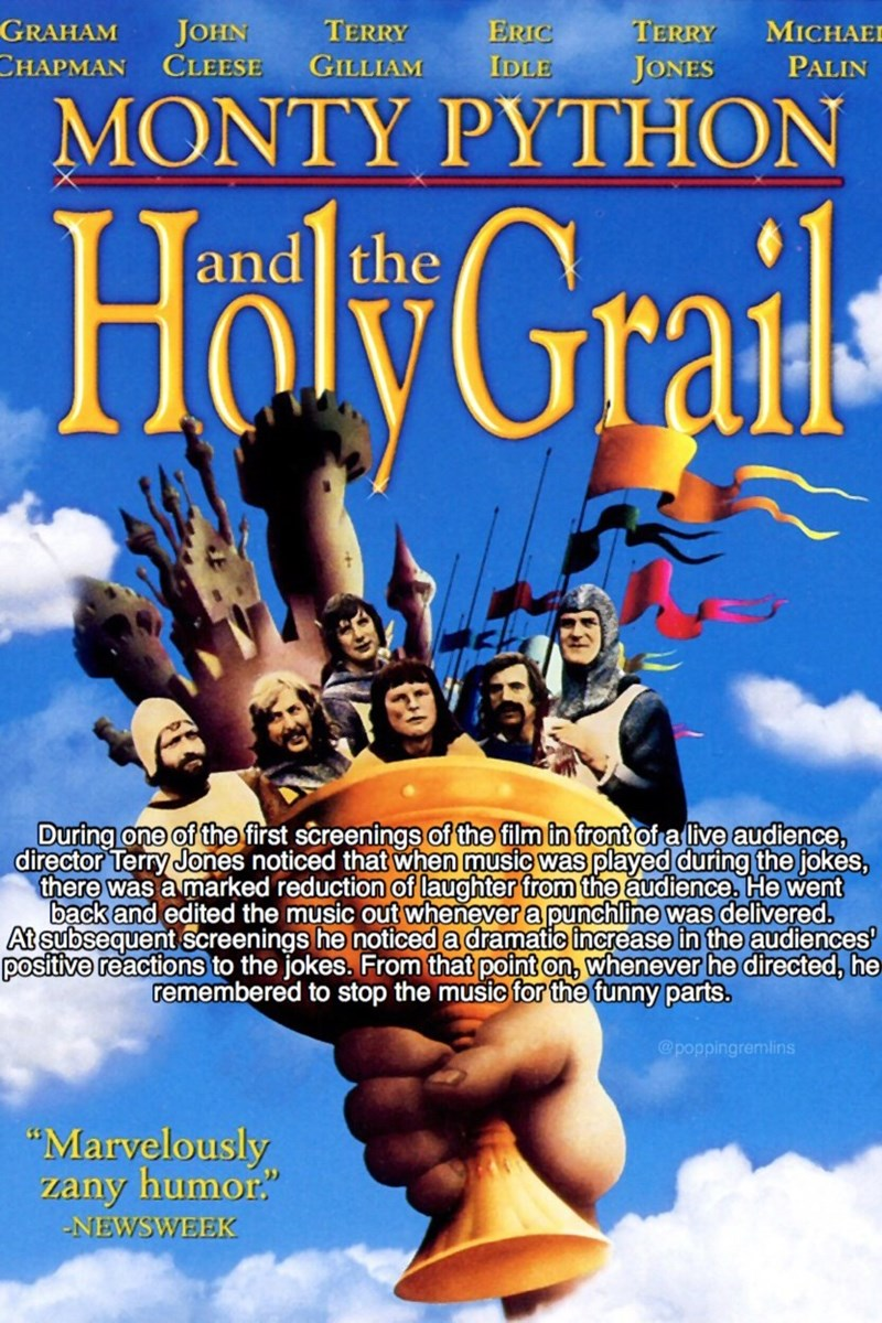 monty python - Poster - MICHAE TERRY GRAHAM JOHN CLEESE ERIC TERRY СНАРМAN GILLIAM IDLE JONES PALIN MONTY PYTHON and the Holy Grails