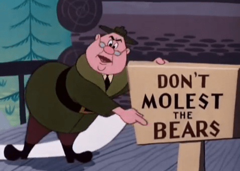 out of context cartoon - Cartoon - DON'T MOLEST THE BEARS
