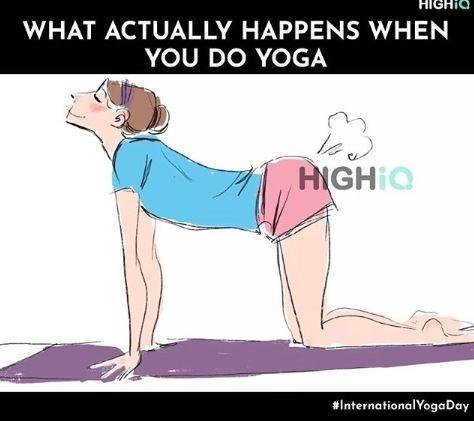 Meme - Cartoon - HIGHIO WHAT ACTUALLY HAPPENS WHEN YOU DO YOGA HIGHIQ #InternationalYogaDay