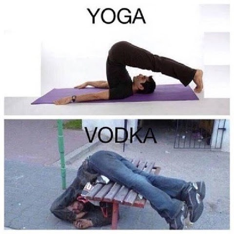 Meme - Tights - YOGA VODKA