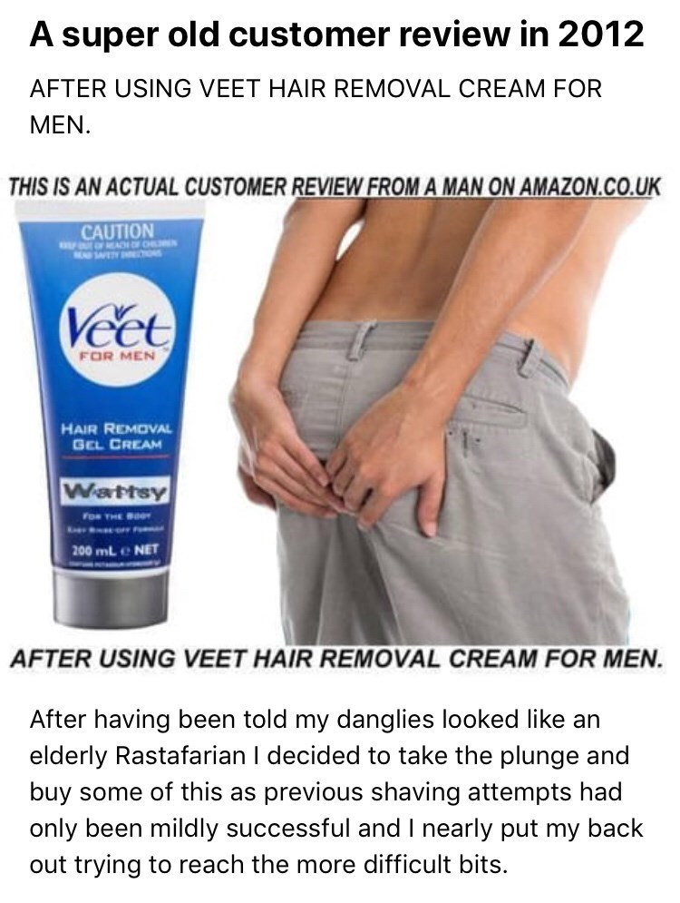 Veet Hair Removal Cream Review Is Timeless Comedy Gold Fail Blog