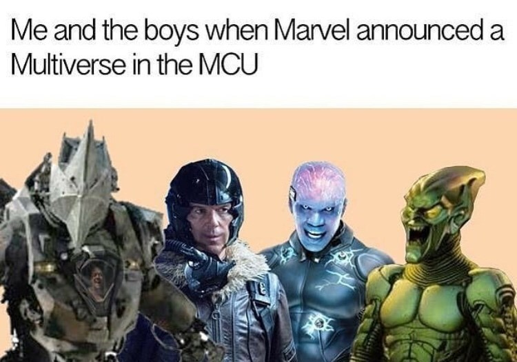Fictional character - Me and the boys when Marvel announced a Multiverse in the MCU