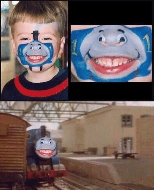 meme - Thomas the tank engine