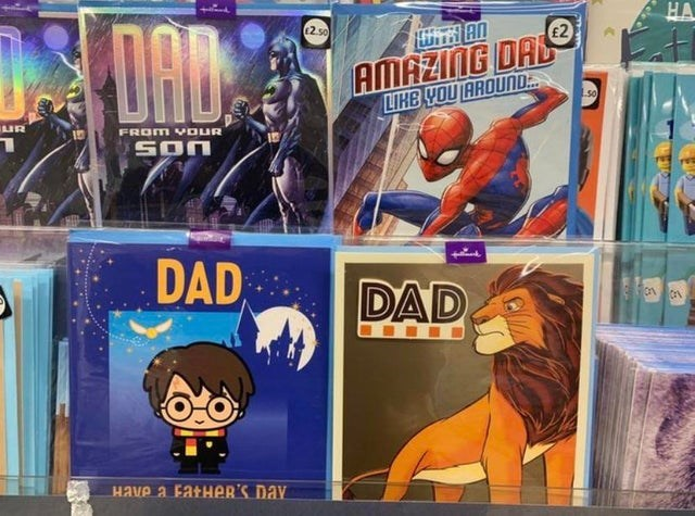meme - Animated cartoon - DAD E2 50 £2 AMAZING DAL LIHB YOU AROUND L5o UR FROM VOUR SOn DAD DAD Have a FatHer'S DAY 12