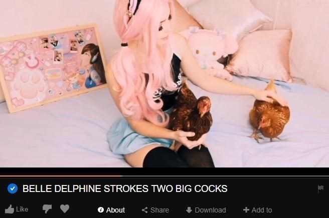 Snapshot - BELLE DELPHINE STROKES TWO BIG COCKS O About Like Share +Add to Download