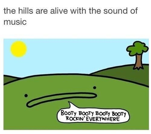 funny pic - Green - the hills are alive with the sound of music Вооту вооту вооту вооту ROCKIN'EVERYWHERE