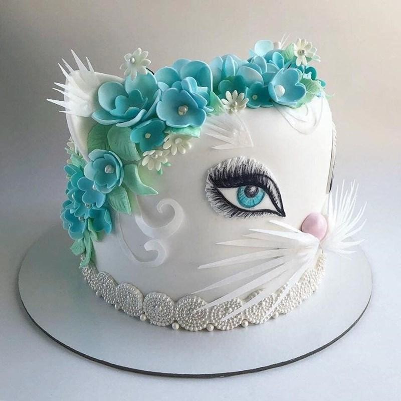cake baking flowers birthday cake Cats - 9322886656