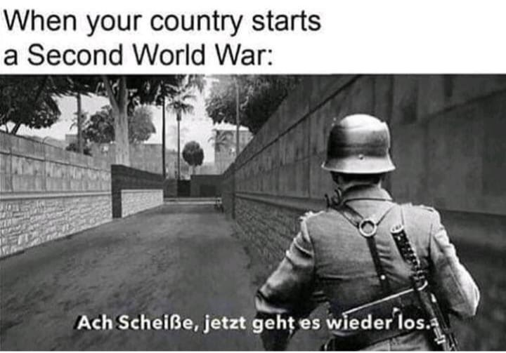 Photography - When your country starts a Second World War: Ach Scheiße, jetzt geht es wieder los.