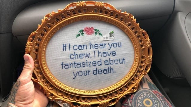 funny pic - Bottle cap - 52 99 If I can hear you chew, I have fantasized about your death. urururararerer 0