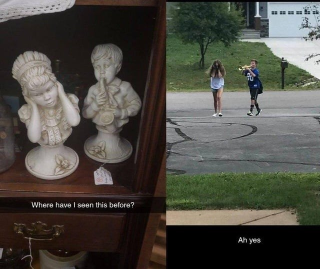 funny pic - Sculpture - Where have I seen this before? Ah yes