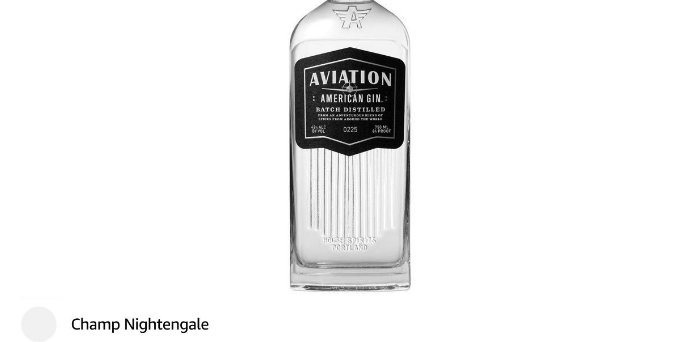 ryan reynolds review - Drink - AVIATION : AMERICAN GIN.: BATCH DI18TILLED 0225 H 313 RTUASD Champ Nightengale