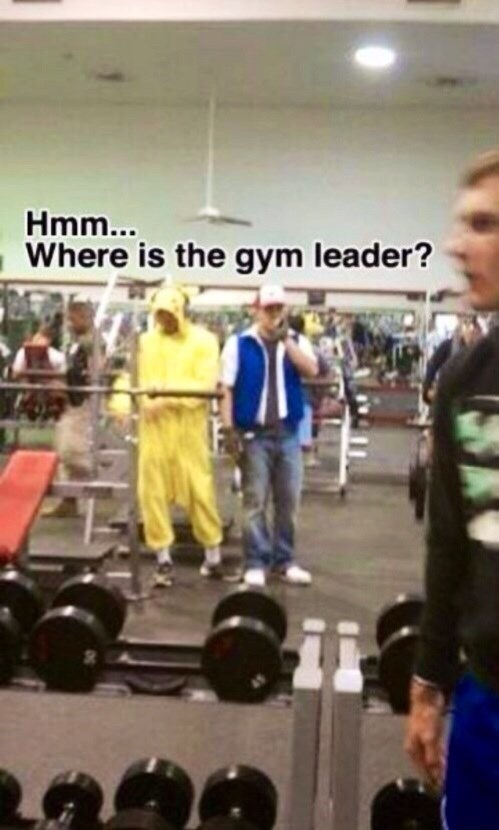 Meme - Physical fitness - Hmm... Where is the gym leader?