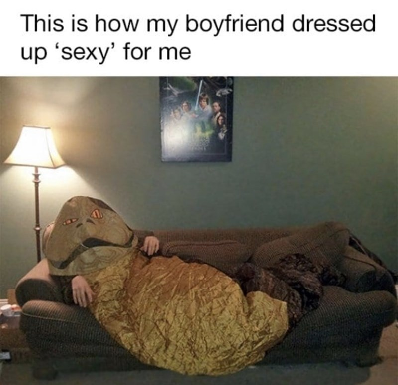 funny men - Room - This is how my boyfriend dressed up 'sexy' for me