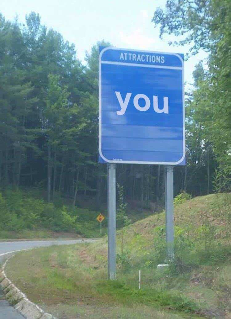 Meme - Sign - ATTRACTIONS you