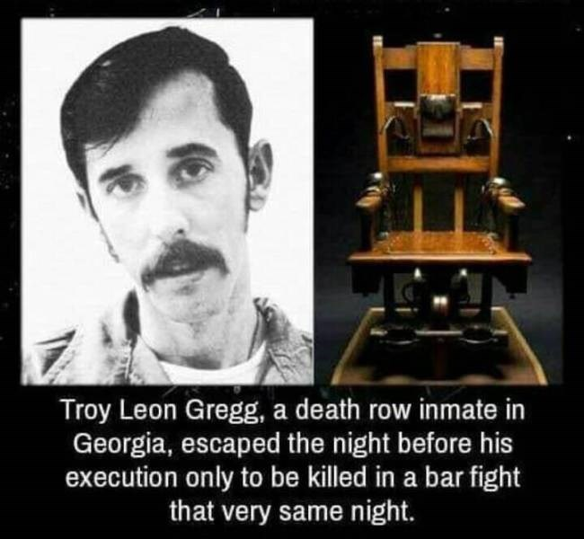 struggling - Text - Troy Leon Gregg, a death row inmate in Georgia, escaped the night before his execution only to be killed in a bar fight that very same night.