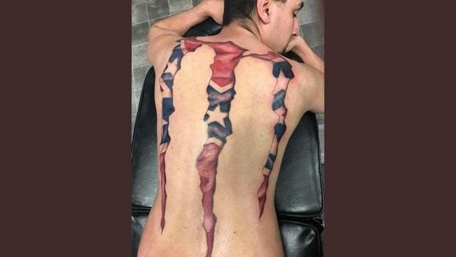 cursed tattoo - confederate monster logo