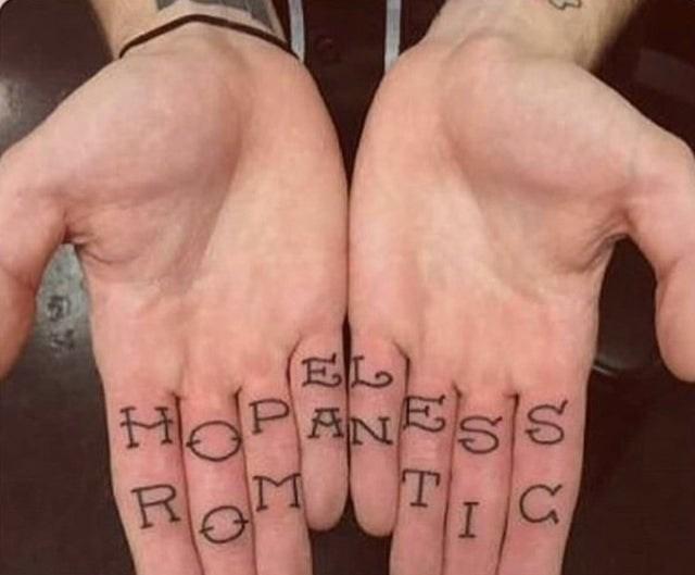 cursed tattoo - Finger - HOPANBSIS R M T IC