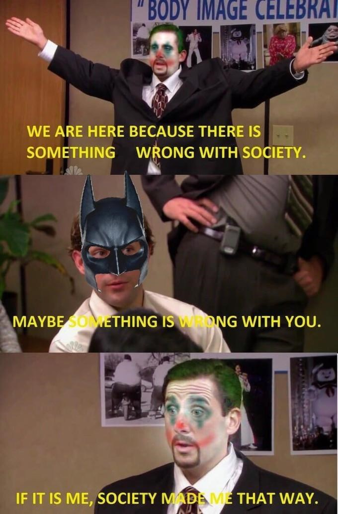 jim michael batman the joker the office memes