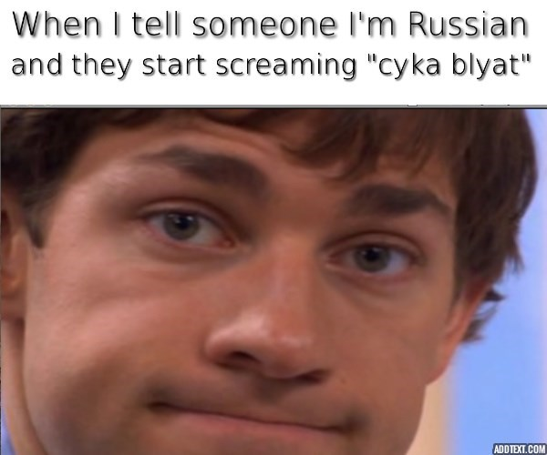 jim russian the office memes