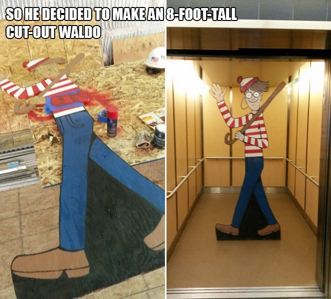 where's waldo hospital - Floor - SOHEDECIDED TOMAKEAN8-FOOT-TALL CUT-OUT WALDO