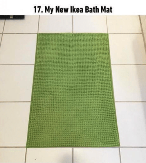 soothing image - Green - 17. My New Ikea Bath Mat