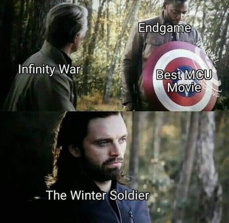Meme - Beard - Endgame Infinity War Best MCU Movie The Winter Soldier MARKEL