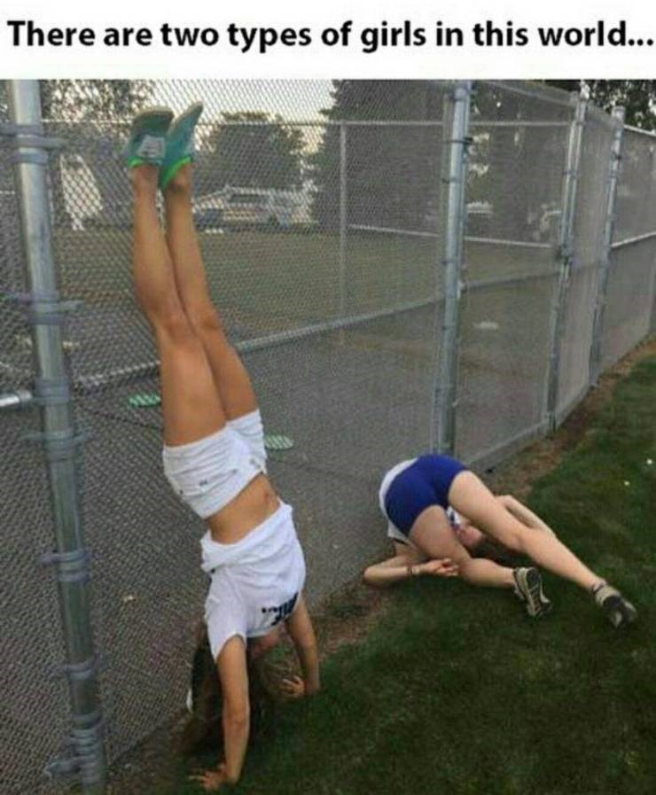 funny pic - Calisthenics - There are two types of girls in this world...