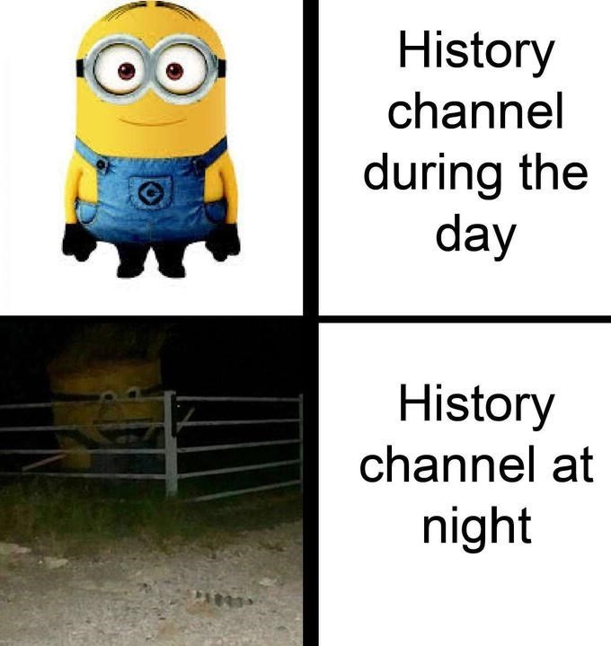 Transport - History channel during the day History channel at night