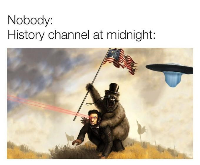 Organism - Nobody: History channel at midnight: