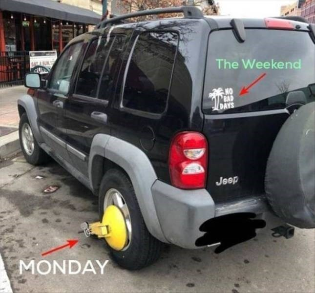 Land vehicle - The Weekend NO BAD DAYS Jeep MONDAY