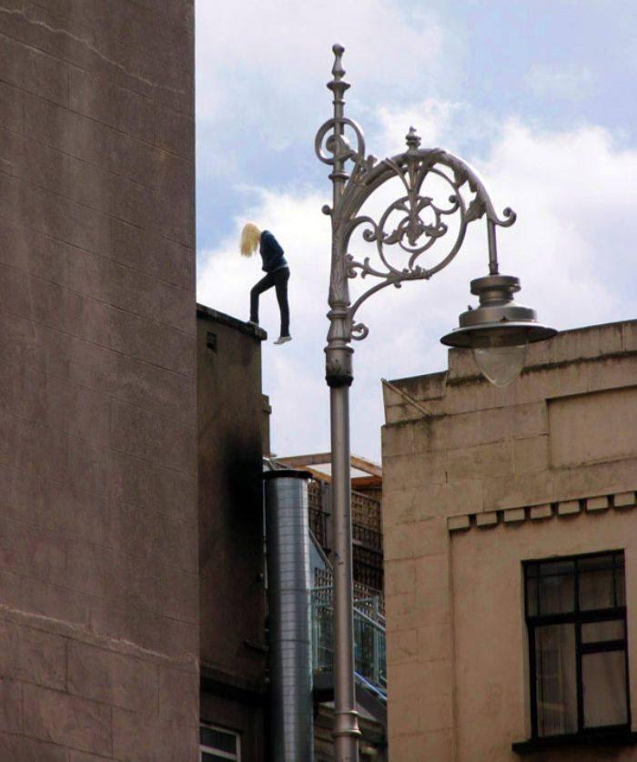 misplaced mannequin - Street light