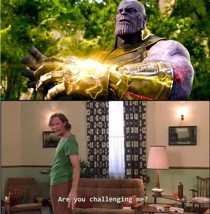 shaggy meme - Fictional character - Are you challenging me?