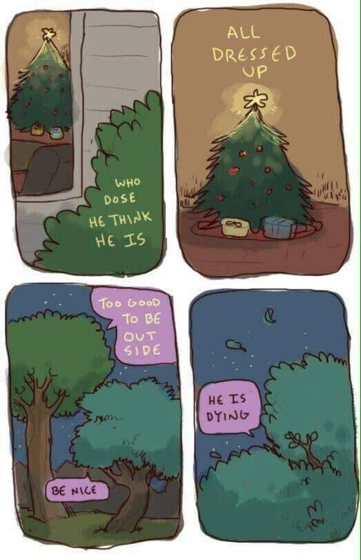 Meme about christmas tree