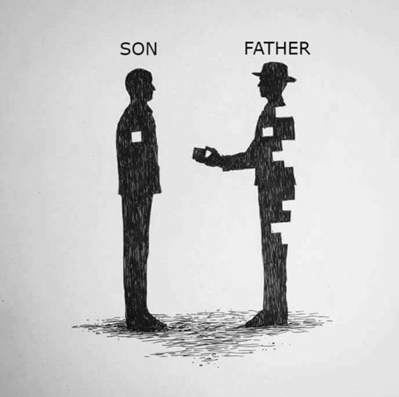 Standing - FATHER SON