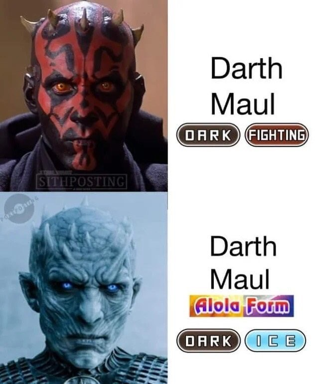 shitpost - Fictional character - Darth Maul OARK FIGHTING SITHPOSTING Darth Maul Alola Form OARK(0EE