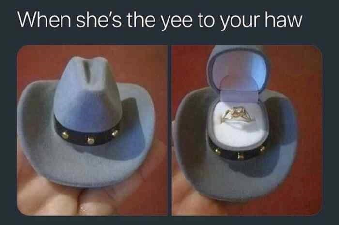 Hat - When she's the yee to your haw
