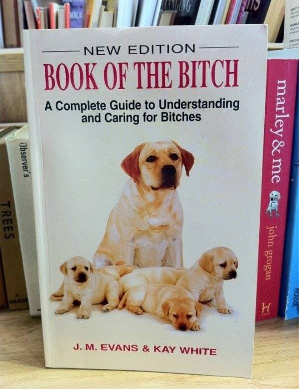 how to book - Dog - NEW EDITION BOOK OF THE BITCH A Complete Guide to Understanding and Caring for Bitches WARNE J. M.EVANS & KAY WHITE marley &me TCAS john grogan Observer's TREES
