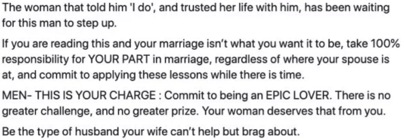 marriage advice conclusion about how to use this advice and what it means in the big picture